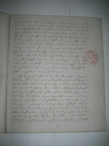 Cahier d'étude du duc de Reichstadt, d'un ensemble de neuf.