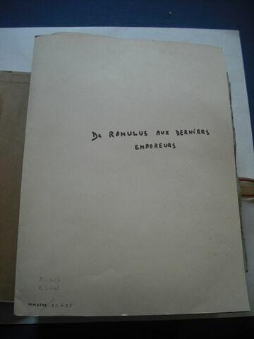 Liasse de papier, en langue allemande, formant un ensemble d'études sur la statistique, l'histoire, la politique, écrits par le duc de Reichstadt.