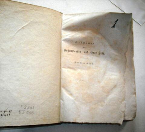 Livre d'études en langue allemande ayant appartenu à Napoléon II : Geschichte der Hohenstaufen und ihrer Zeit. V, Leipzig, 1824. Cinquième volume d'un ensemble de six.
