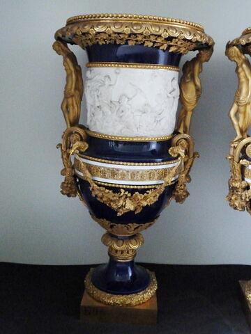 Vase (Vénus), monté en bronze doré, d'une paire