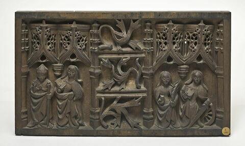 Panneau : quatre saints