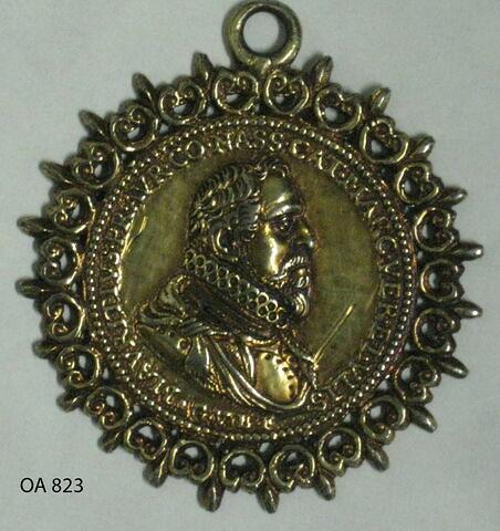 Médaille : Maurice de Nassau / un chêne avec une couronne de lauriers