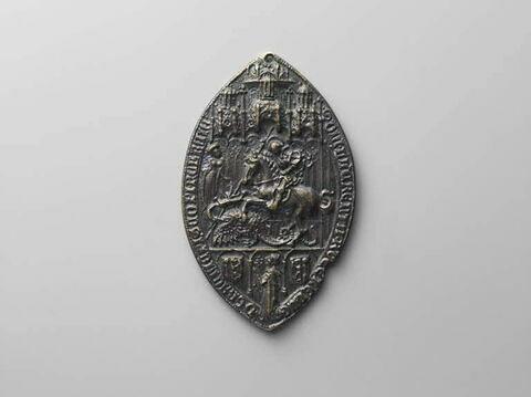 Sceau de Lorenzo Roverella, évêque de Ferrare 1460-1474.
