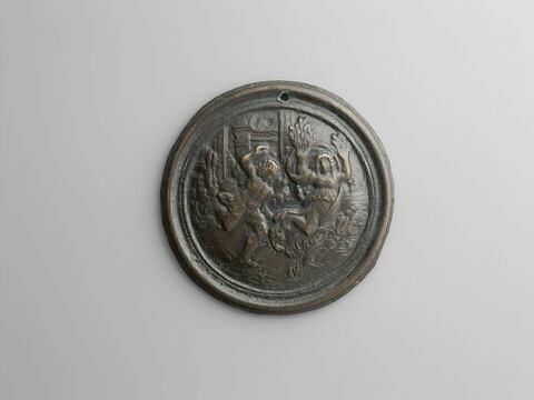 médaillon : Apollon et Daphné.