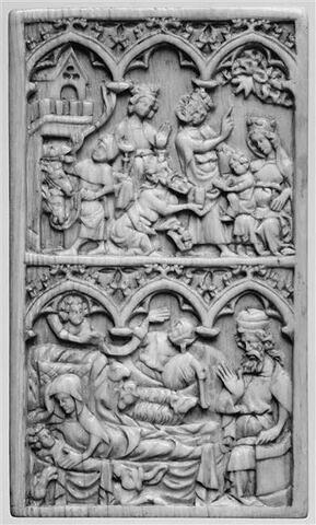 Tablette à écrire : Nativité ; L'Adoration des Mages