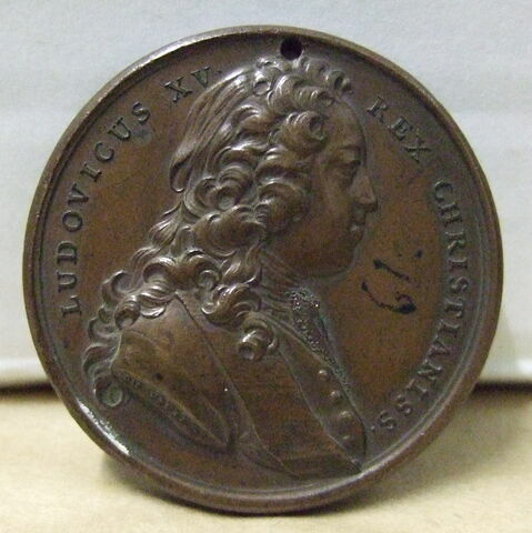 Médaille : Louis XV jeune / figure féminine