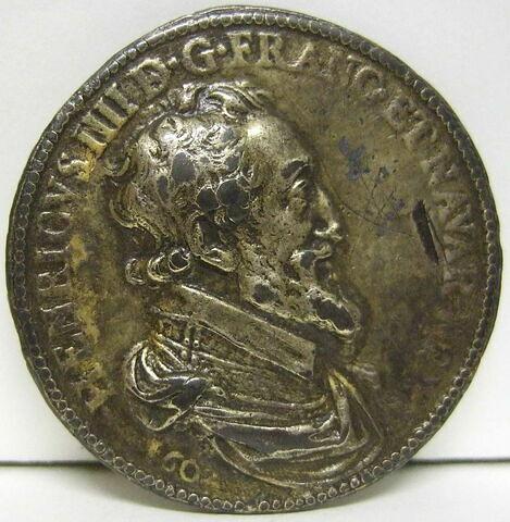 Médaille : Henri IV / autel surmonté de colonnes et couronnes