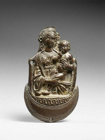 Figure d'applique : la Vierge à l'enfant