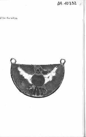 Plaque semi circulaire : oiseau.