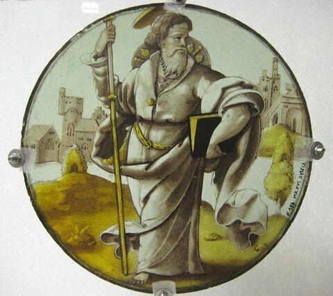 Vitrail rond : saint Jacques apôtre