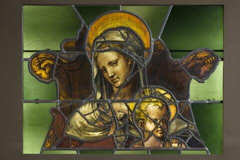 Fragment de panneau : la Vierge à l'Enfant