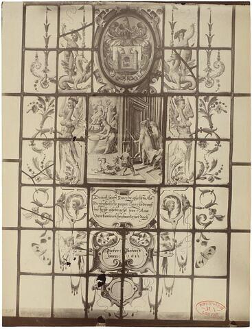 Panneau rectangulaire : Daniel découvrant la fraude des prêtres de Baal.