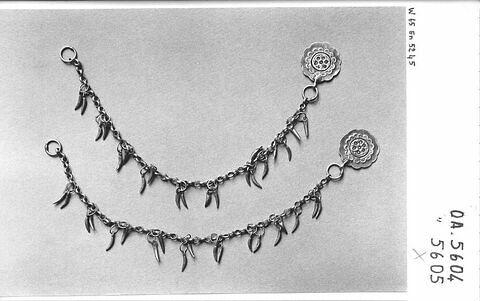 Chaîne supportant des amulettes