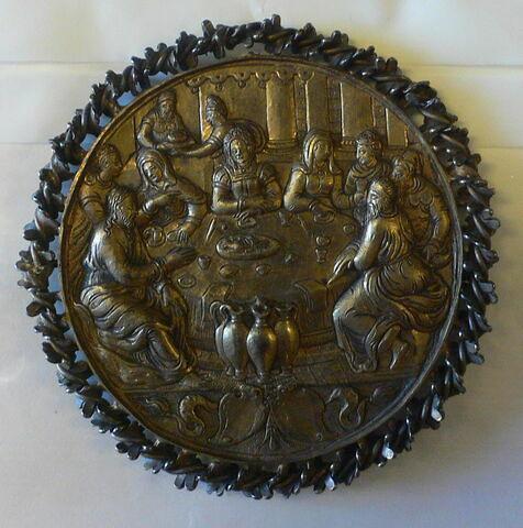 Médaille : Les noces de Cana / inscription latine