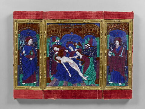 Triptyque : La Vierge de pitié entre Saint Pierre et Saint Paul