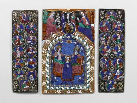 Triptyque : le Couronnement de la Vierge (trois plaques)