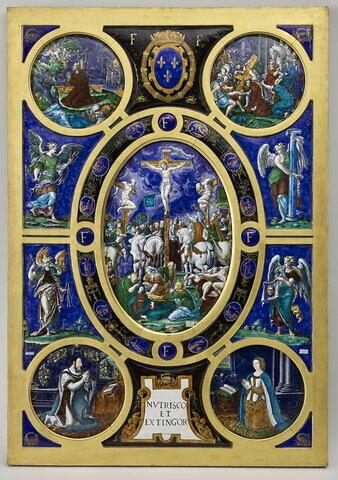 Retable de la Sainte-Chapelle : La Crucifixion
