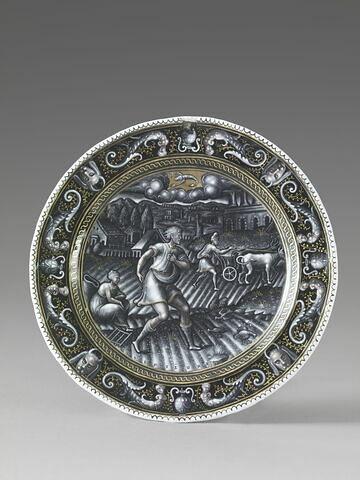 Assiette : Le Mois de septembre, d'un ensemble de neuf assiettes, Les Mois (N 1290 à N 1298)