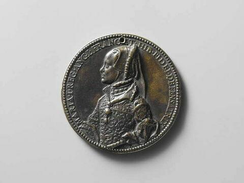 Médaille : Marie Tudor / femme assise tenant un rameau et une torche