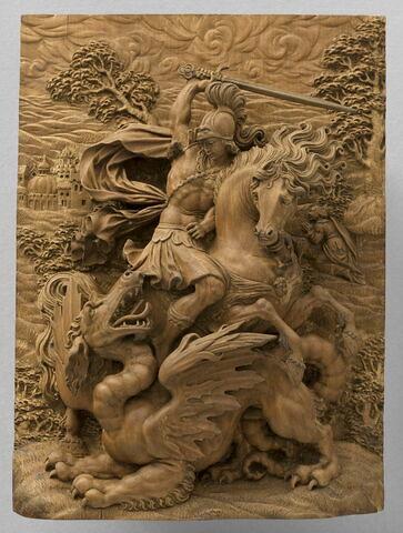 Bas-relief : Saint George et le dragon