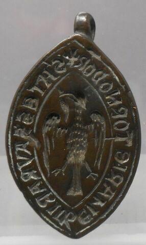 Matrice de sceau d'un trésorier d'un établissement de Tonnerre (Notre-Dame des Fontenilles?)