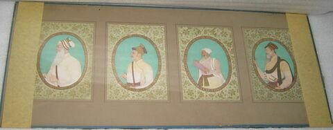 25 portraits répartis en 5 cadres (TH 277 1 à TH 277 5).