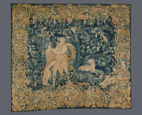 Hercule et le lion de Némée, de la tenture des Travaux d'Hercule