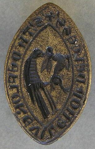 Matrice de sceau : Thomas de Floreville, moine de Liesses.