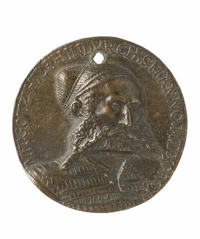 Médaille : portrait d'homme inconnu