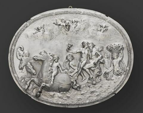 Plaque : Neptune et Amphitrite