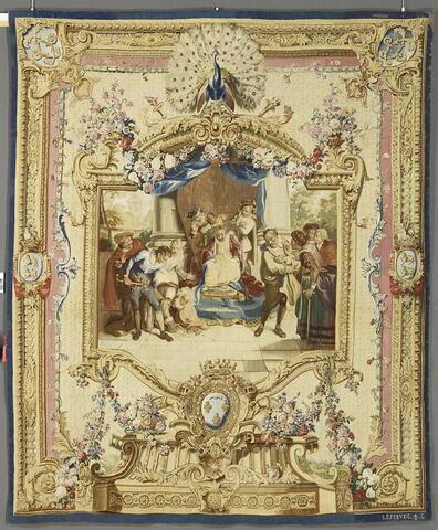 Le Jugement de Sancho, de la tenture de l'Histoire de Don Quichotte aux armes de la famille d'Argenson