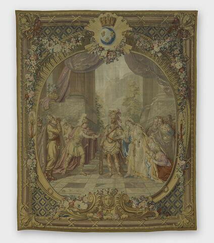 Alceste de Quinault, de la tenture des Scènes d'Opéra, de Tragédie et de Comédie, accordée par Louis XV au comte de Choiseul, duc de Praslin, en 1763.