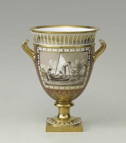 Glacière (ou verre à glace) du Service Encyclopédique : La Natation et Course à cheval, d'une paire avec OA 12210 1