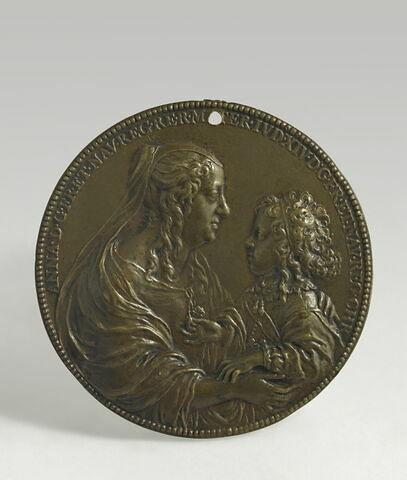 Médaille : Anne d'Autriche et Louis XIV enfant / Le Val de Grâce