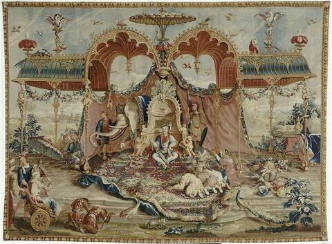 """L'Audience du Prince, de la première tenture chinoise ou """"Histoire de l'Empereur de la Chine"""""""