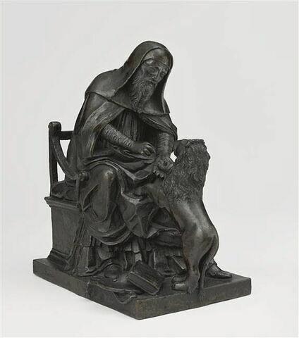 Groupe sculpté : saint Jérome et le lion