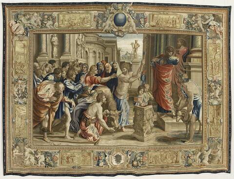 Le Sacrifice à Lystra, de la tenture des Actes des Apôtres