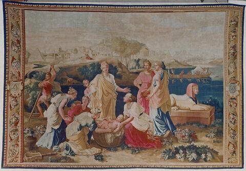 Moïse sauvé des eaux,  de la tenture de l'Histoire de Moise