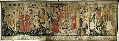 Le Miracle de saint Quentin, d'une tenture de la vie de saint Quentin