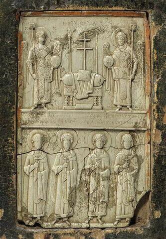 Icône : Hétimasie et saints militaires.