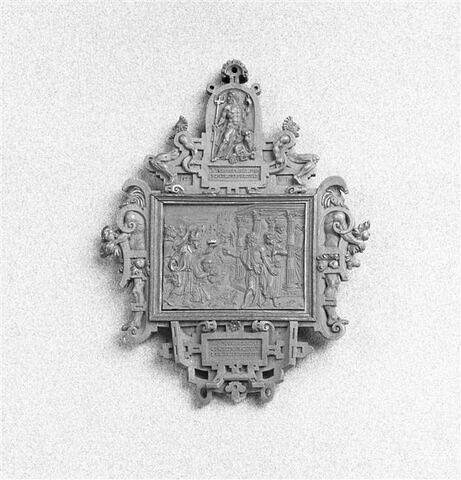 Médaillon à deux faces : Sacrifice de Lystre dans l'Asie Mineure. Le Semeur, Vocation de saint Pierre le pêcheur.