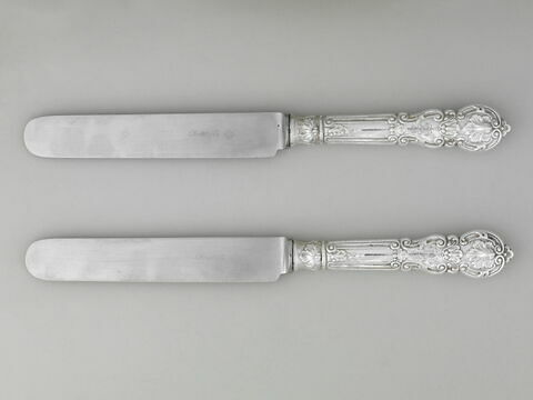 Grands couteaux (ensemble de 101 pièces) dans des plateaux dans un présentoir