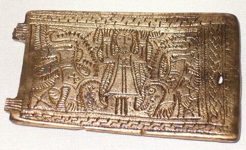 Plaque-boucle de ceinture à décor figuré : Daniel dans la fosse aux lions