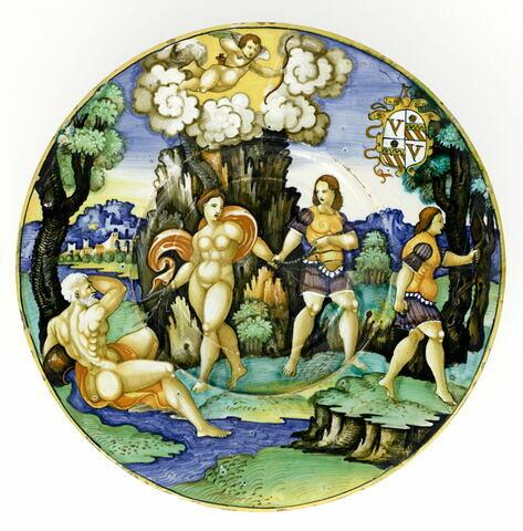 Assiette : Apollon et Daphné. Service Orsini