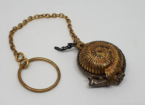 Cassolette à parfum en forme de colimaçon, en argent doré