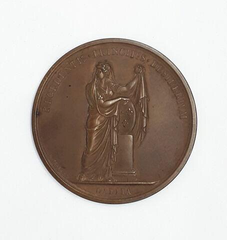 Médaille : Départ de Louis XVIII, cliché de revers