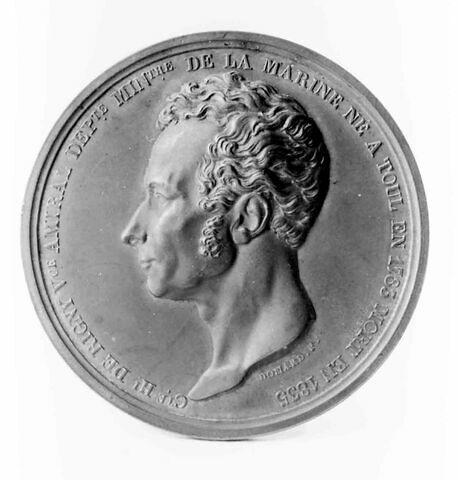 Médaille : comte de Rigny, cliché de droit