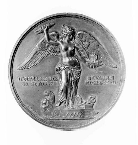 Médaille : Bataille de Navarin, cliché de revers