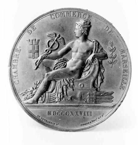 Médaille : Chambre de commerce de Marseille, cliché de revers