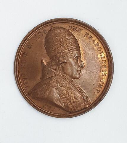 Médaille : Pie VII, sacre de Napoléon Ier, cliché de droit